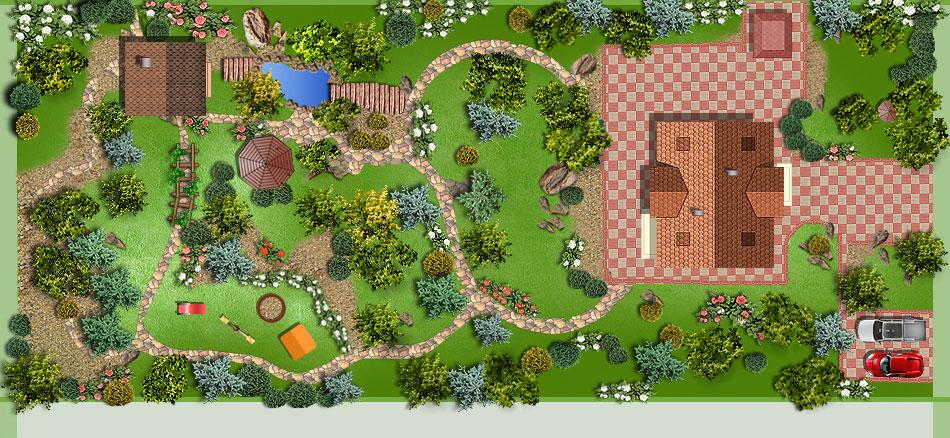 Ландшафтный дизайн проект дачного участка